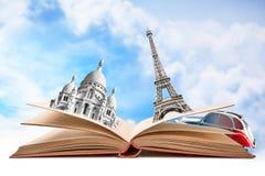 Libro con i monumenti di Parigi Immagine Stock Libera da Diritti