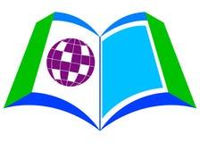 Libro con il globo illustrazione vettoriale