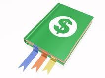 Libro con il segno del dollaro Immagini Stock