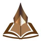 Libro con l'illustrazione della penna. royalty illustrazione gratis