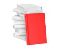 Libro con la cubierta en blanco roja Imagenes de archivo
