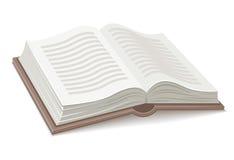 Libro con la extensión abierta stock de ilustración