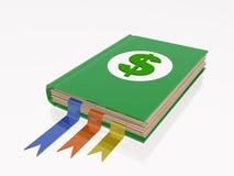 Libro con la muestra de dólar Imágenes de archivo libres de regalías