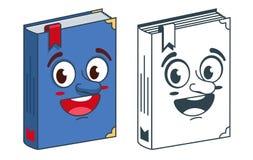 Libro con la se?al El colorear y dibujo brillante para colorear ilustración del vector