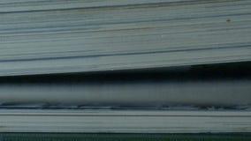Libro con las páginas de torneado almacen de video