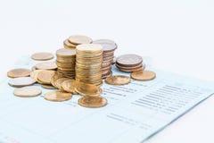 Libro contabile di conto bancario Fotografia Stock