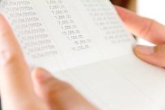 Libro contabile di conto bancario Fotografia Stock Libera da Diritti