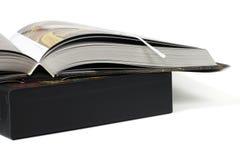 Libro costoso di arte fotografie stock