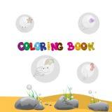 Libro da colorare Immagini Stock