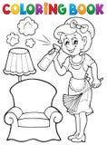 Libro da colorare con la casalinga 2 Fotografie Stock