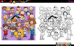 Libro da colorare dei caratteri del bambino Fotografia Stock Libera da Diritti
