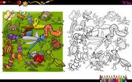 Libro da colorare dei caratteri dell'insetto Fotografia Stock Libera da Diritti