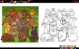 Libro da colorare dei caratteri dell'orso Fotografie Stock