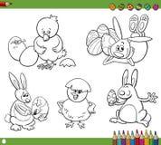 Libro da colorare dei fumetti di Pasqua Fotografie Stock