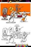 Libro da colorare del fumetto della banda dei coniglietti Immagine Stock