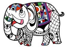 Libro da colorare dell'elefante illustrazione di stock