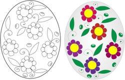 Libro da colorare dell'uovo di Pasqua Fotografie Stock Libere da Diritti