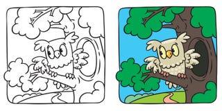 Libro da colorare della civetta royalty illustrazione gratis