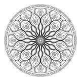 Libro da colorare di vettore per l'adulto La pagina per si rilassa e meditazione Modello in bianco e nero della mandala con l'orn royalty illustrazione gratis