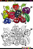 Libro da colorare divertente di frutti Immagine Stock Libera da Diritti