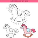 Libro da colorare e punto per punteggiare gioco educativo per i bambini Colleghi il puzzle dei punti Foglio di lavoro per classe  royalty illustrazione gratis