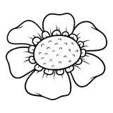 Libro da colorare, fiore royalty illustrazione gratis