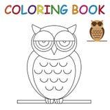 Libro da colorare - gufo Immagine Stock