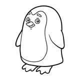Libro da colorare, pagina di coloritura (pinguino) royalty illustrazione gratis