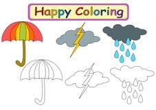 Libro da colorare per i bambini illustrazione di stock