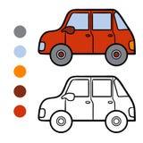 Libro da colorare per i bambini, automobile royalty illustrazione gratis