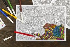 Libro da colorare per rilassamento royalty illustrazione gratis