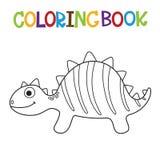 Libro da colorare sveglio di Dino Fotografia Stock Libera da Diritti