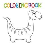 Libro da colorare sveglio di Dino Fotografie Stock Libere da Diritti