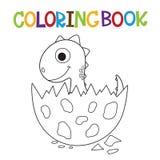 Libro da colorare sveglio di Dino Immagini Stock