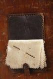 Libro de aguja de cuero del vintage foto de archivo libre de regalías