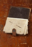 Libro de aguja de cuero del vintage Foto de archivo