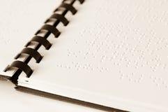 Libro de Braille Imagenes de archivo