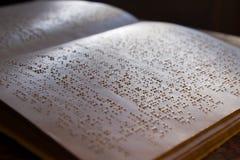 Libro de Braille Fotografía de archivo
