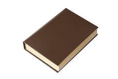 Libro de Brown aislado en blanco Foto de archivo libre de regalías