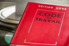 Libro de código de trabajo del francés Fotografía de archivo