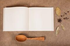Libro de cocina Foto de archivo libre de regalías