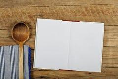 Libro de cocina en blanco Fotografía de archivo libre de regalías