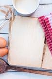 Libro de cocina en blanco del vintage Imagen de archivo