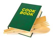 Libro de cocina y utensilios de cocina Imagen de archivo libre de regalías
