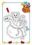 Libro de colorante de la Navidad 10 ilustración del vector