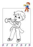Libro de colorante de los trabajos 25 - músico ilustración del vector