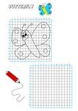 Libro de colorante - rejilla 1 stock de ilustración