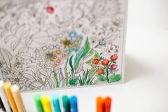 Libro de colorear adulto Imagenes de archivo