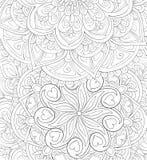 Libro de colorear adulto, página una imagen de fondo abstracta floral para foto de archivo