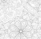 Libro de colorear adulto, página una imagen de fondo abstracta floral para imagenes de archivo